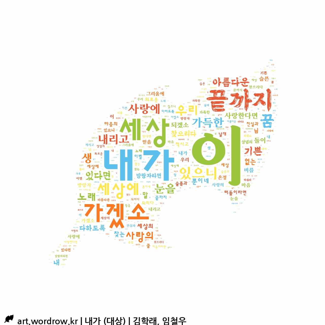 워드 아트: 내가 (대상) [김학래, 임철우]-2